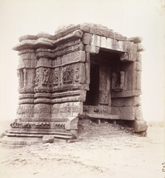 General view of small ruined shrine, Motap, Gujarat